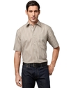 Shirt, No Iron Short Sleeve Stripe Shirt