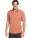 Big and Tall Shirt, Short Sleeve Petro Plaid Shirt