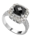 Ring, Jet Cubic Zirconia Square Ring (13-3/4 ct. t