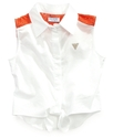 GUESS Kids Top, Girls Lace-Yoke Button-Up Vest