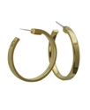 GUESS Earrings, Gold-Tone Small Hoop