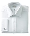 Dress Shirt, No-Iron White French Cuff