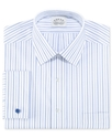 Dress Shirt, No Iron Blue Ocean Stripe Long Sleeve