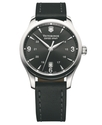 Watch, Men's Alliance Black Leather Strap 241474
