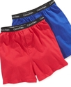 Kids Boxers, Little &amp; Big Boys 2 Pack Solid and St