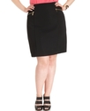 Plus Size Skirt, Zip-Pocket Pencil