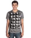 Cut & Sew T Shirt, Stud Finder Graphic T Shirt