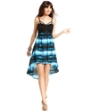 Juniors Dress, Sleeveless High-Low A-Line