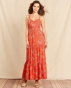 Dress, Spaghetti-Strap Paisley-Print Maxi