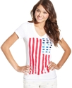 Levi&#39;s Juniors Tee, Short-Sleeve American Flag-Pri