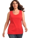 Plus Size Top, Sleeveless Lace Tank
