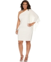 R&M Richards Plus Size Dress, Three Quarter Flutte