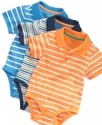 Baby Bodysuit, Baby Boys Short Sleeve Striped Body