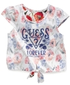 GUESS Kids Shirt, Little Girls Reverse-Print Top