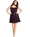Xscape Plus Size Dress, Cap-Sleeve Lace Seamed
