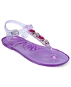 Shoes, Gemmie Jelly Flat Thong Sandals Women's Sho
