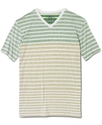 T-Shirt, Inside-Print Striped Short-Sleeved Tee