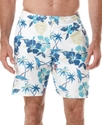 Swimwear, Floral Print Cargo Swim Shorts