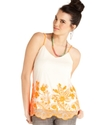 Juniors Top, Sleeveless Embroidered