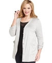 Plus Size Sweater, Long-Sleeve Cardigan