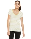 Performance Top, Short-Sleeve Striped V-Neck Tee