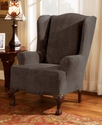 Slipcovers, Stretch Royal Diamond Wing Chair Cover