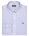 Dress Shirt, Slim-Fit Purple and White Box Check L