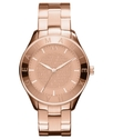 Watch, Women's Rose Gold Ion Plated Stainless Stee