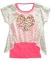 Kids Top, Girls High-Low Layered Tee