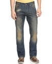 Denim, Hanley Slim Straight Dirty Wash Jeans