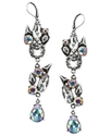RACHEL Rachel Roy Earrings, Silver-Tone Glass Crys