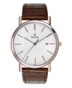 Watch, Men&#39;s Brown Leather Strap 37mm 98H51