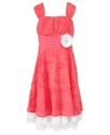 Kids Dress, Girls Soutache Flower Dress