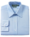 Dress Shirt, Blue Herringbone