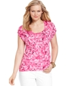MICHAEL Michael Kors Plus Size Top, Short-Sleeve F