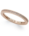 18k Rose Gold Over Sterling Silver Ring, Cubic Zir