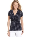 Top, Short-Sleeve Polka-Dot