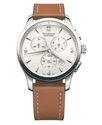 Watch, Men's Chronograph Alliance Brown Leather St
