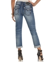 Jeans, Straight-Leg Boyfriend Flap-Pocket