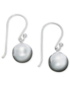 Sterling Silver Earrings, Ball Drops