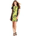 MICHAEL Michael Kors Dress, Short-Sleeve Floral-Pr