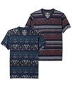 Shirt, Short Sleeve Tribal Print T Shirt
