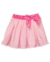 Girls Skirt, Little Girls Striped Poplin Skirt
