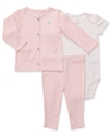 Carter's Baby Set, Baby Girls 3-Piece Cotton Cardi