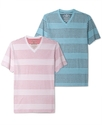 Shirt, Every Day Value Inside Thin Stripe V Neck T