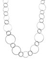 Sequin Necklace, Silver-Tone Circle Link Necklace