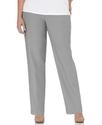 Plus Size Pants, Pull On Straight Leg, Grey