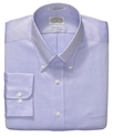 Dress Shirt, No-Iron Amethyst Solid Long Sleeve Sh