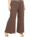 Plus Size Pants, Wide-Leg Chiffon