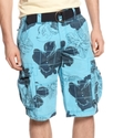 Shorts, Hibiscus Print Cargo Shorts